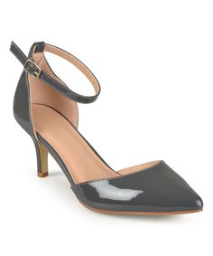 Gray Patent Ike D'Orsay Pump