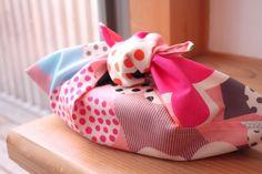 あずま袋お弁当袋(ピンクお花)