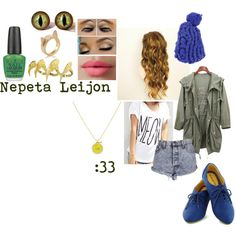 """""""Hometuck: Nepeta Leijon Inspired Outfit"""" by oceana-jade on Polyvore"""