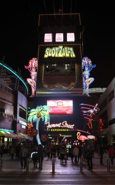 SlotZilla by night. Finally got to fly the big one 11 stories high. Best high in Las Vegas. LOL 7/16 TW
