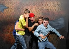 Scared Bros At A Haunted House