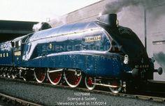 'Mallard' steam locomotive, no Built in Doncaster Mallard Train, Train Museum, Diesel, Steam Railway, Train Art, Old Trains, Train Engines, Electric, Rolling Stock