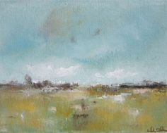 Abstract Coastal Landscape Painting Original Art - Gualala Drive 14 x 11. $145.00, via Etsy.