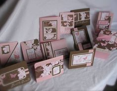pink butterflies friendship set by cm1536 - Cards and Paper Crafts at Splitcoaststampers