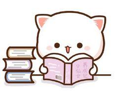 Cute Anime Cat, Cute Bunny Cartoon, Cute Cartoon Pictures, Cute Cat Gif, Cute Cats, Cute Bear Drawings, Cute Cat Drawing, Cute Little Drawings, Cute Cartoon Drawings