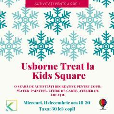 Kids Square găzduiește un eveniment recreativ pentru copii organizat de Lucia Lupoian și Cristina Chis. Copiii se vor recrea având parte de: - joc liber în cea mai mare sală de joacă din Cluj-Napoca dotată cu tobogane, tiroliană, trambulină și zid de cățărat, toate gândite pentru a-i stimula la explorat pe copii. - water painting - citire de carte - atelier de creație - expoziție de cărți Usborne, cu vânzare, perfect venită înainte de a începe cumpărarea cadourilor de sărbători. Treats, Kids, Sweet Like Candy, Young Children, Goodies, Boys, Children, Children's Comics, Sweets