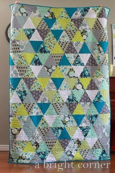 Equilateral Triangle quilt   A Bright Corner