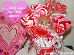 valetines candy ideal .com | DIY Candy Bouquet | Valentines Day