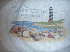 light house counted cross stitch