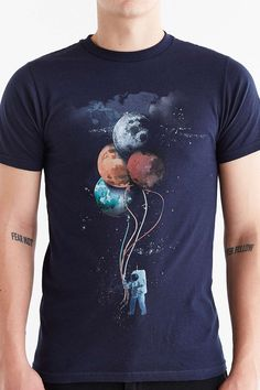 Design By Humans The Spacemans Trip Tee - Urban Outfitters design - tee - graphic - tshirt - printed - space - planets - astronomy