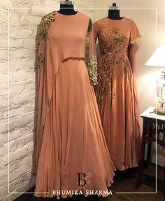 bhumika sharma. Contact : bhumikasharmaofficial@gmail.com. Designer Party Wear Dresses, Indian Designer Outfits, Indian Outfits, Indian Wedding Gowns, Indian Gowns, Frock Fashion, Fashion Dresses, Shadi Dresses, Pakistani Dresses