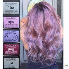 154 Likes, 23 Comments - Lorena - Hair & Makeup Artist (Lorena Rivera Cabrera. 154 Likes, 23 Co Lavender Hair, Lilac Hair, Gold Hair, Pinkish Purple Hair, Hair And Makeup Artist, Hair Makeup, Kenra Hair Color, Metallic Hair Color, Matrix Hair Color