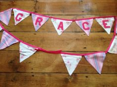 Grace - bunting for my god daughter