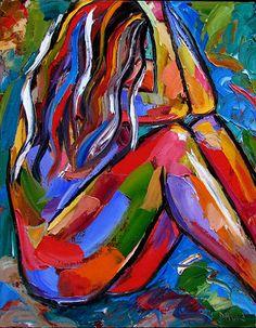 Debra Hurd Original Paintings AND Jazz Art: Figurative art abstract nude painting female paintings by Debra Hurd