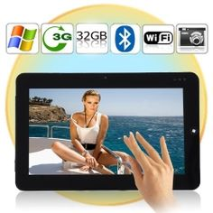Windows 7 OS Tablet PC with 10.1 Inch Capacitive Screen, WiFi + 3G + LAN, 2GB RAM, 32GB SSD
