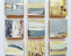Origineel geschilderd hout blok Wall Art-Abstract schilderij moderne Wall Sculpture-commerciële kunst installatie