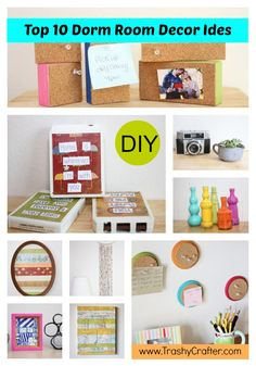 Top Ten Dorm Room Decor DIY Ideas | Easy, Cheap and Awesome! some of these are cute ideas outside of a dorm room
