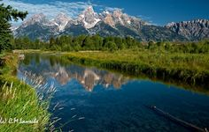 Teton Reflection.  Snake River, Wyoming.  July 2012. (c) C.M. Lansche Photography
