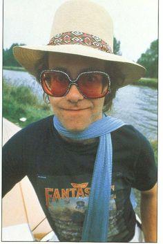 "Look at him wearing a ""Captain Fantastic"" shirt, Good to see! Elton John Costume, Tony Danza, Captain Fantastic, Tiny Dancer, Shows, Good Music, 70s Music, My Favorite Music, 70s Fashion"
