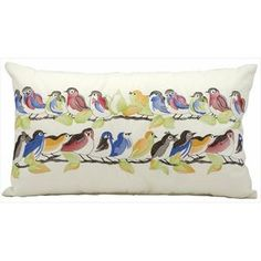 Mina Victory by Nourison White Birds Indoor/ Outdoor Throw Pillow - Overstock™ Shopping - Great Deals on Nourison Throw Pillows