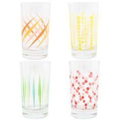 Party glassware 7 oz. gift box of 4 from Fishs Eddy at $20.00
