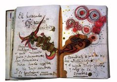 FRIEDA KAHLO she kept a journal and would doodle and write notes
