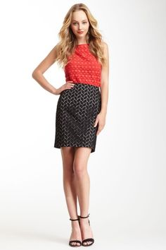 Vince Camuto Leaf Eyelet Skirt by Vince Camuto on @HauteLook