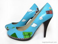 Super Mario hand painted shoes