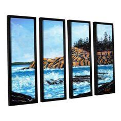 ArtWall Gene Foust 'Roll Tide' 4 Piece Floater Framed Canvas Set