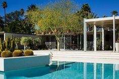 Abernathy House, Palm Springs, California, by William F Cody Modernism Week, Palm Springs California, Southern California, Modern Pools, Outdoor Living, Outdoor Decor, Pool Designs, House Tours, Parties