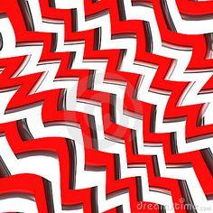 Red Zig Zag Pattern