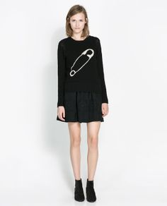 JACQUARD SAFETY PIN PATTERN SWEATER - Knitwear - Woman | ZARA United States