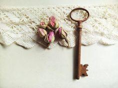 Antique Skeleton Key Vintage Rusty Skeleton Key by stephmelart, $12.50