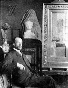 Symbolist painter Fernand Khnopff (1858 - 1921)