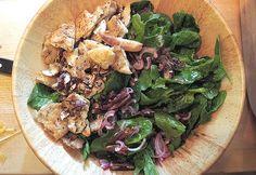 Spinatsalat mit Datteln – spinach salad with dates