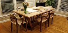 Made for my Daughter & her Family Walnut Dining Chairs, Dining Table Chairs, Sam Maloof, Maple Walnut, Rocking Chair, Daughter, Inspiration, Furniture, Home Decor