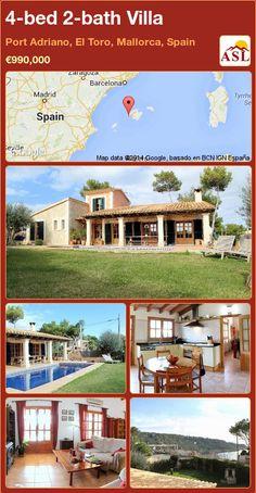 4-bed 2-bath Villa in Port Adriano, El Toro, Mallorca, Spain ►€990,000 #PropertyForSaleInSpain