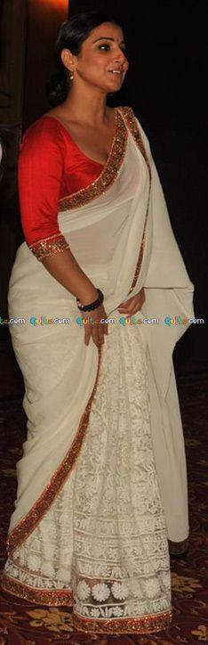 A little clumsy perhaps, but even then Vidya looks uber-feminine. Indian Attire, Indian Wear, Vidya Balan, Indian Textiles, Indian Designer Wear, Indian Sarees, Indian Dresses, Style Me, Feminine
