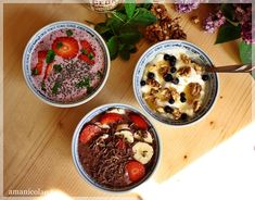 Acai Bowl, Pudding, Vegetarian, Vegan, Breakfast, Desserts, Food, Smoothie, Yogurt