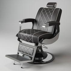 Barber Chair Maletti Zeus 3D Model - 3D Model