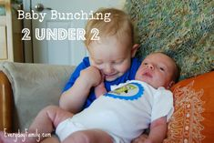Are you a mom with two kids under two or will you soon be? Have you heard of the term Baby Bunching? Read more on the risks and benefits of having children close together in age.