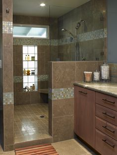 """another big shower... my space to create our shower in is 4' 6"""" in width... smaller than this but a great starting idea"""