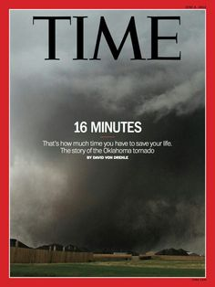 The new Time cover showing the Moore Ok May 20 tornado