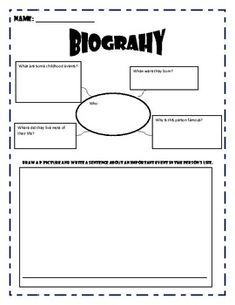 Education world biography book report template history for Autobiography cover page template
