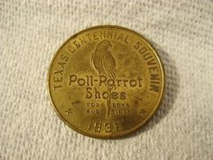 1936 Texas Centennial Souvenir Token - Poll-Parrot Shoes - Osborne Register Co. | #421285963