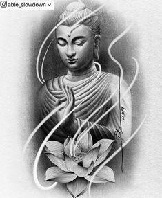 Able Slowdown ( Buddha Tattoos, Buddha Tattoo Design, Clock Tattoo Design, Chicano Tattoos Sleeve, Arm Tattoos, Arte Ganesha, Tattoo Studio, Japanese Snake Tattoo, Egypt Tattoo