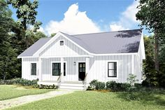 This Country style home plan with Small House influences (House Plan has over 1000 sq ft of living space. The 1 story floor plan includes 2 bedrooms. Ranch House Plans, Best House Plans, Small House Plans, House Floor Plans, Coastal House Plans, Country Style House Plans, Country Style Homes, The Plan, How To Plan