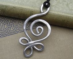 Big Celtic Pendant Necklace Budding Spiral by nicholasandfelice, $ 12.50
