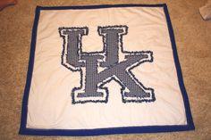 University of Kentucky UK baby quilt!