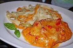 Paprika-Sahne-Hähnchen, ein tolles Rezept aus der Kategorie Überbacken. Bewertungen: 1.216. Durchschnitt: Ø 4,5.